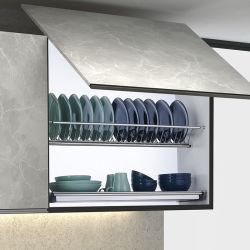 Étagère de support de plaque de rangement pour la maison en acier inoxydable suspendue à l'armoire murale Porte-plat cuisine porte-plat