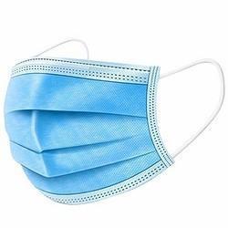 Hochwertige Einweg 3 Ply Erwachsene Anti Spritzstaub Pm2,5 Nicht gewebtes Gewebe, FDA 510K CE EN149 En14683 zugelassen Blaue Medizinische Gesichtsmaske