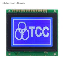 شاشة عرض رسومية LCD بدقة 128X64 نقطة ذات 20 سنًا IC T6963 شاشة LCD ذات خلفية زرقاء
