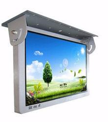 壁の屋根の台紙19インチスクリーンLCD TVのモニタの表示を広告する人間の特徴をもつバスデジタル表記