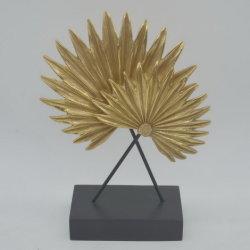 Forma de la hoja promocional Polyresin Hogar Decoración de mesa