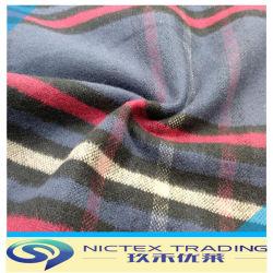 Baumwollgewebe, Baumwollgewebe für Hemd, 100% Baumwollflanell-Gewebe, aufgetragenes gesponnenes Tartan-Gewebe