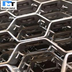 Feuille de maille hexagonal en acier pour doublure réfractaire 40mm-60mm 310S/ SS304 /410s ancres V/Y/U/L Types