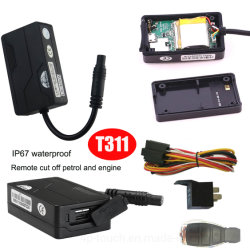 Carro impermeável IP67 Dispositivo de Rastreamento por GPS com alarme de excesso de velocidade T311