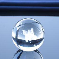 يشخّص يعلّب واضحة صلبة أكريليكيّ ماء [لد] [كرستل غلسّ] فقاعات كرة نقش ليزر مستديرة