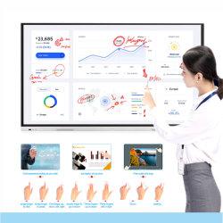 Serie T6, die Bildschirm-interaktive Bildschirmanzeigen 55 Zoll-SKD HDMI LCD für Ausbildung verschachtelt