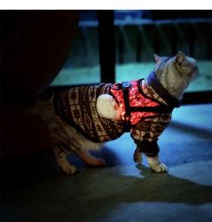 LED는 애완견 고양이 조끼 셔츠 외투를 불이 켜진다