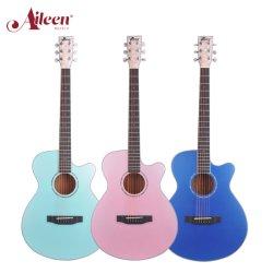 Aileenmusic 高品質な 40' のメタリックカラーマホガニー材のベニヤ合板 サイドアコースティックギター( AFM17CC )