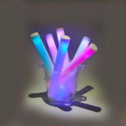 Licht-op LEIDENE van de Stok van het Schuim Verzameling ijl toejuichen Rood/het Groene Toverstokje van de Knuppel van de Gloed van de Buis/Blauw