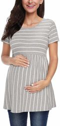 Vestiti di maternità a strisce casuali delle donne personalizzate vendita calda