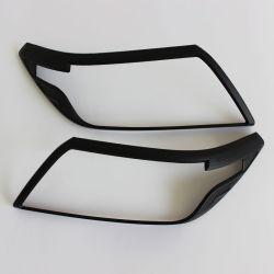 La iluminación de coche negro mate de la luz de la cabeza cubierta para Nissan Navara NP300 2014 nuevo la tapa del faro de luz frontal negro para decorar