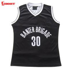 Aibort 100%Poliéster último diseño personalizado sublima el baloncesto Jersey (N-BJ02)