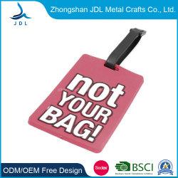 Custom Die Cast Zinc Alloy Newcastle المملكة المتحدة حقيبة معدنية فارغة حقيبة الأمتعة علامة مع ملحقات جلدية (010)