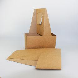 Supporto di tazza naturale ecologico del caffè della carta kraft Per la casella di carta impaccante del Takeaway