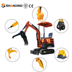 China Goedkope hydraulische minigraafmachine Fabrikant 1 ton Mini Digger