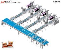 De horizontale van de verpakking Machine van de Verpakking van de Omslag van de Stroom/voor de Chocolade van het Suikergoed van het Brood