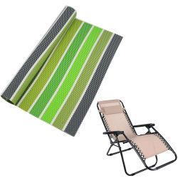 熱い販売のPritningのビーチチェアのための屋外のストリップカラー金網PVC上塗を施してあるファブリック