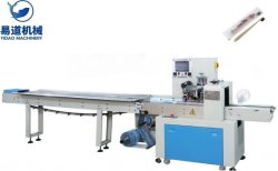 نظام PLC للتحكم عالي السرعة معاطف من الفولاذ المقاوم للصدأ/ ملفات تعريف الارتباط/ ملعقة بلاستيكية عرض الوسائد ماكينة مع سعر جيد