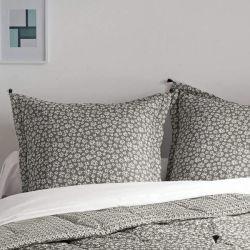 El lujo de 100% algodón almohada impreso cubiertas con borlas