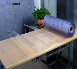 유연한 명확한 투명한 연약한 PVC 플라스틱 장, 테이블 덮개 프로텍터 주문 식사 PVC 상보