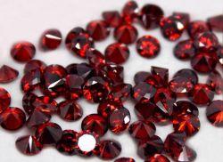 Оптовая торговля CZ круглой формы ослабление Garnet цветные кубических обедненной смеси камни