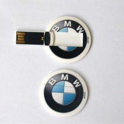 Scheda di forma rotonda a capacità reale unità flash USB da 1 GB 2 GB Memory Stick USB da 4 GB a basso prezzo