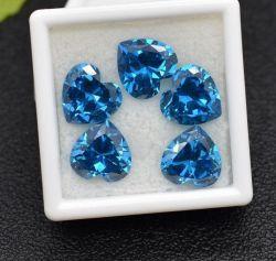 زبرجد زركون تكعيبيّ, توباز زرقاء [كز], قلب قطعة زبرجد حجر كريم