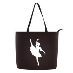 Barato Ballet de Bolsas Impresso Personalizado Girl Tote Saco com fecho de correr