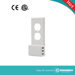 USB cargador de pared con interruptor eléctrico Socket
