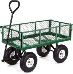 Heavy Duty jardin Gazon Wagon chariot Panier