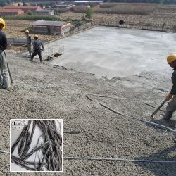 Trenzado de polipropileno de concreto reforzado de fibra óptica, venta directa de fábrica de fibra de trenzado/PP