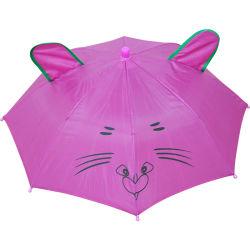 Het leuke Dierlijke Hoofd Draagbare Stuk speelgoed van de Hoed van het Embleem van de Paraplu van het Oor Jong geitje Aangepaste Transparante