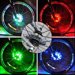 Indicatore luminoso ricaricabile della rotella di bicicletta del LED 8PCS RGB per avvertimento di sicurezza ed indicatore luminoso degli accessori della bici della decorazione con la vite istantanea di Switch13 Modeswith da riparare