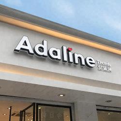 Logo Alfabeto acrilico di alta qualità Logo Board LED anteriore illuminato Lettera canale