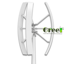 Generador eólico de eje vertical/ Aerogenerador Vertical de 500W