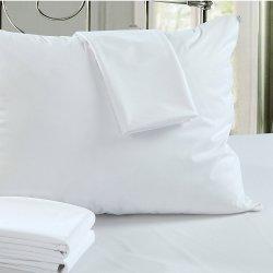 Comercio al por mayor protector de almohada y funda con cremallera 70GSM 100% Poliéster TEJIDO LAMINADO DE TPU la prueba de fallos de cama anti ácaros transpirable