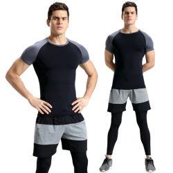 Высокое качество спортивная одежда фитнес-износа мужчин рубашка Sportwear сжатия