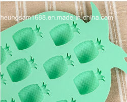 Venda a quente 3D Abacaxi Bandeja cubos de gelo de Silicone