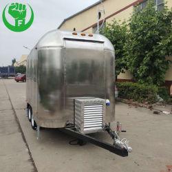 이동할 수 있는 체더링 트레일러 음식 판매를 위한 트럭에 의하여 사용되는 커피 손수레 이동할 수 있는 음식 phan_may 밴