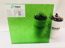 3mm 4mm 5mm 6mm 8mm verde Flora laminados con relieve figurado de patrón de vidrio (CP-TP)