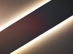 شكل مربع LED الألومنيوم شكل من الألومنيوم لشكل صناعي الإضاءة استخدام أحدث تصميم LED شكل جانبي مسطح مربع من الألومنيوم بروز لمصباح LED