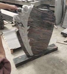 묘석 또는 돌 기념물을 새기는 히말라야 빨간 최신 인기 상품에 의하여 새겨지는 단 하나 강직한 묘비 또는 빨간 화강암