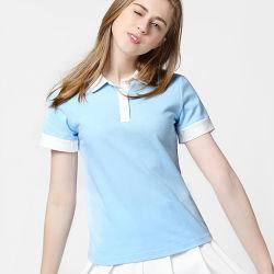 Оптовая торговля обычная женщин нас рубашки поло 100% хлопок для спорта
