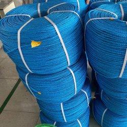 12 مم قوة عالية 3 ملتوٍ/حبل من النايلون PP PE مضفر لمدة شبكة التعبئة وصيد السمك