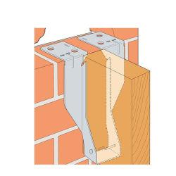Le connecteur en métal bois les supports de liaison solives de bois de crochet de suspension