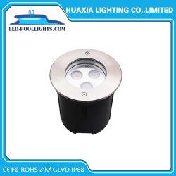 قاعدة مستقيمة 9W ضوء حوض السباحة الغائر IP67&IP68 LED تحت الأرض الإضاءة (HX-HUG118-9W)