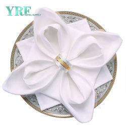 Planície da festa de casamento branco grossista guardanapo de algodão