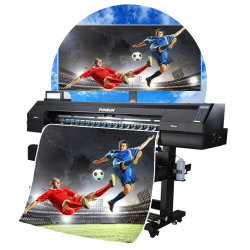 中国のFunsunの大きいフォーマットのデジタル屈曲の旗の印字機のEcosolventプリンター最もよい品質
