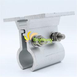 Aaj017 ルーフカラースチールタイルソーラーシステム用アルミニウムクランプ インストール