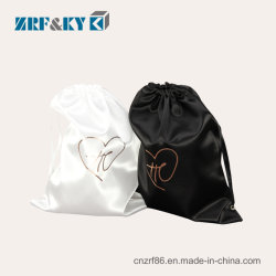 Wholesale Custom Eco-Friendly White/Black Cotton/Canvas/Polyester/Nylon/Jute/Satin Fabric Cosmetics/Sport/Gift Kordelzug Taschen